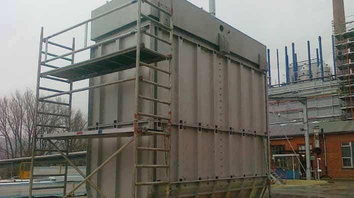 Jet bag Filter under construction 3