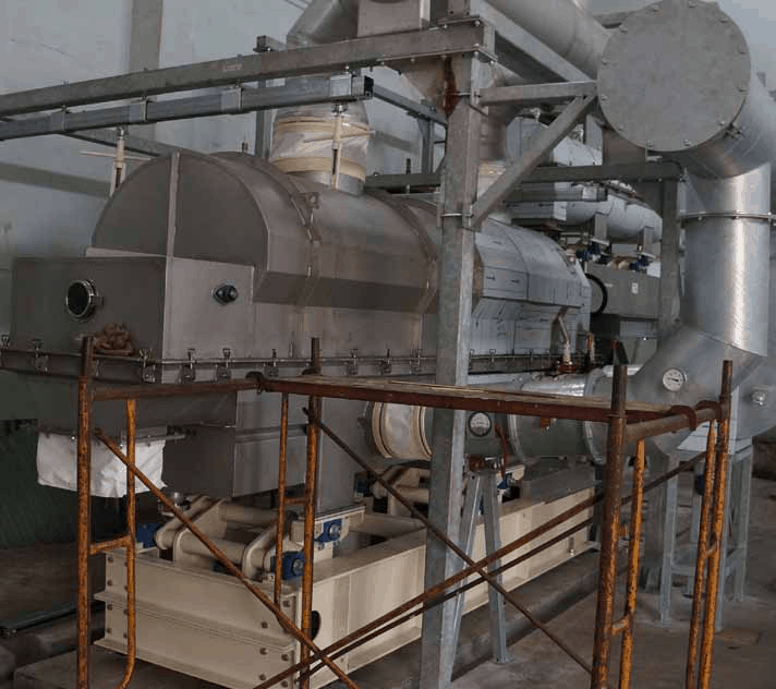 Pasteurizer – Dryer Cooler Installation fluid bed