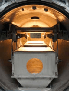 interior of continuous Autoclave