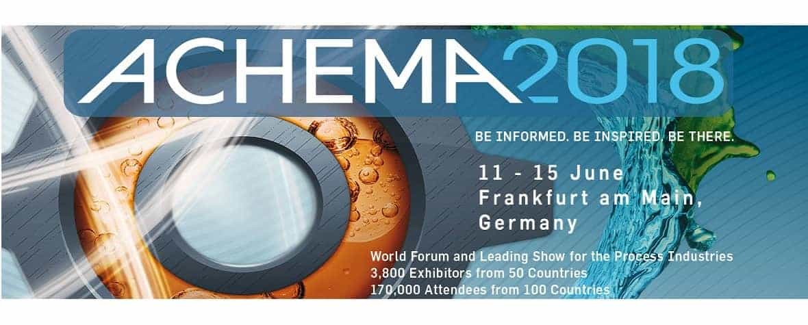 Achema 2018 frankfurt germany process industry