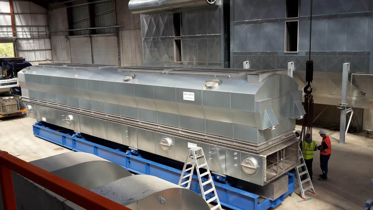 process large quantities of bulk materials that need reduced moisture levels fluid bed dryer