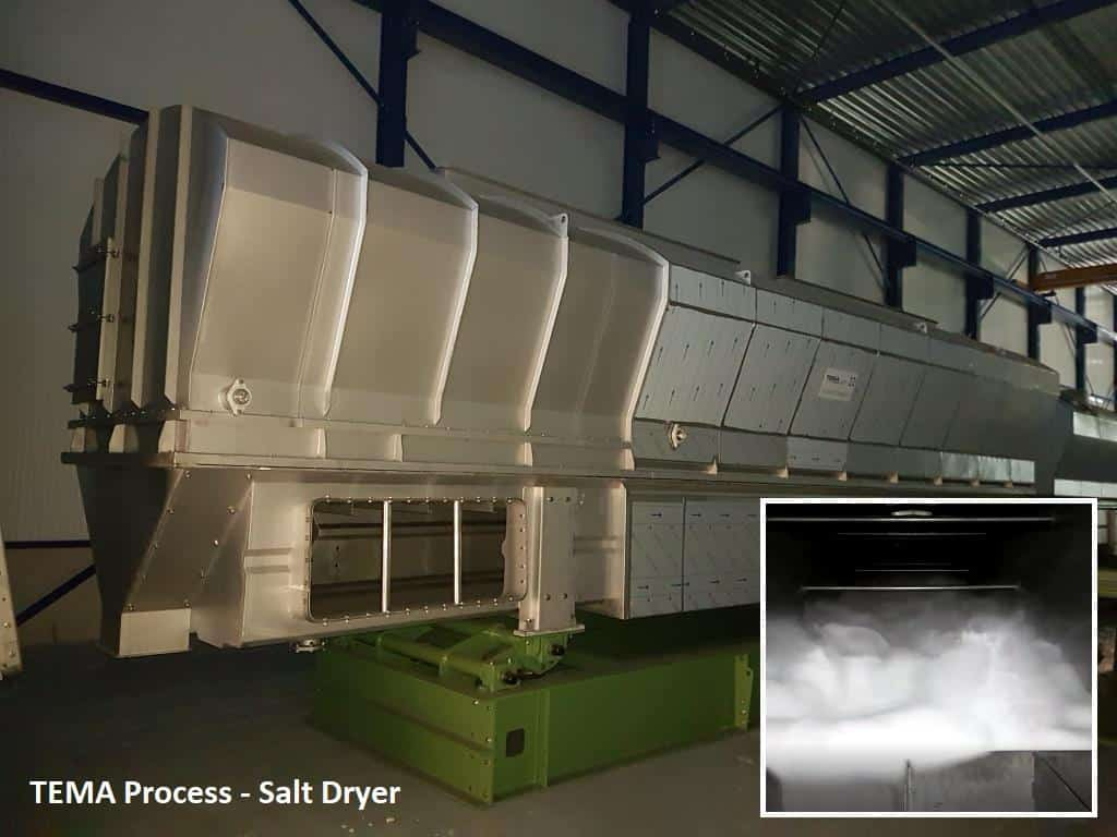 advanced fluid beds for salt drying applications