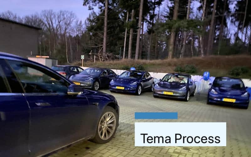 Tema Process reduces carbon footprint by investing in a new Tesla fleet powered by 100% green solar energy