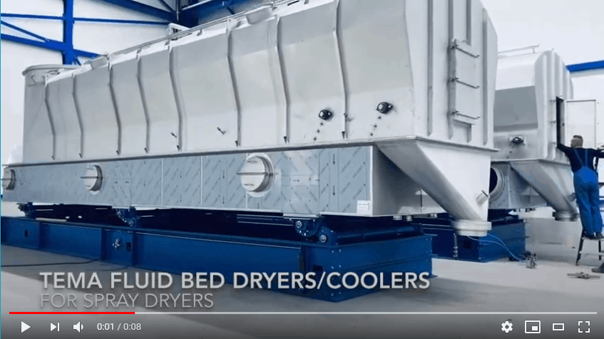 Fluid bed dryers for spray drying