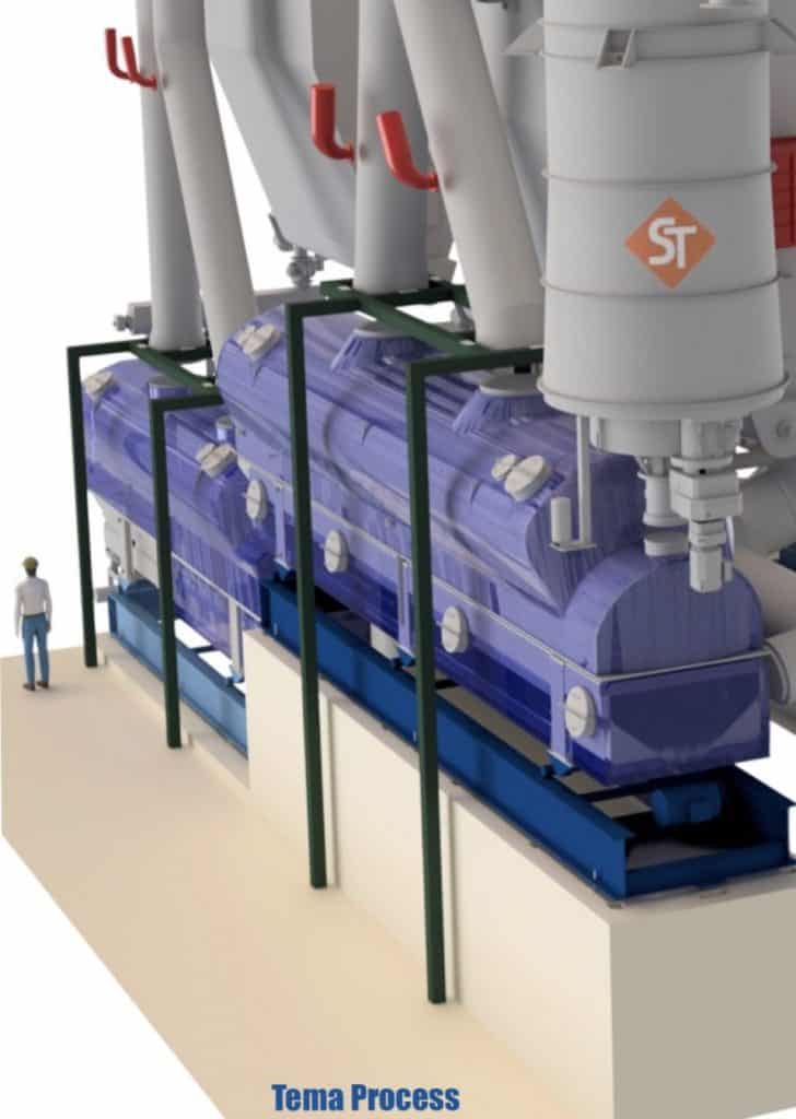 Dewatering and drying solution for ABS