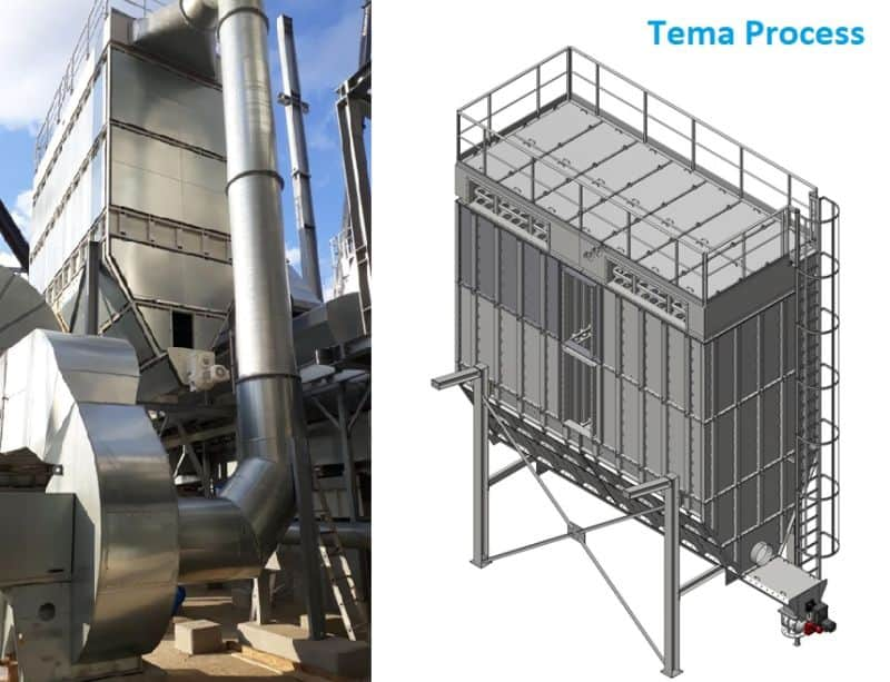 TEMA Process Pulse Jet Baghouse dust collector