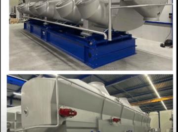 Multi zone Tema Fluidbed dryer